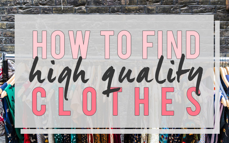 """Do we even know what """"Quality"""" is? – No More Fashion Victims"""